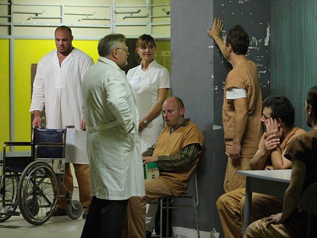 Divadelní hru Dale Wassermana Přelet nad kukaččím hnízdem inscenovali vsetínští divadelníci kvůli opravám Lidového domu v suterénu hotelu Vsacan.
