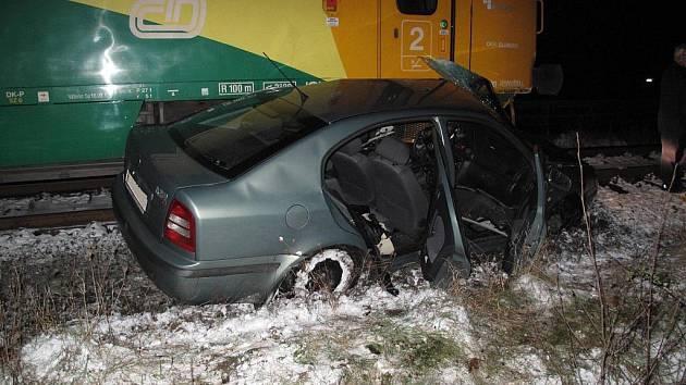 Dopravní nehoda na železničním přejezdu v Rožnově pod Radhoštěm