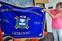 Sbor dobrovolných hasičů v Leskovci dostal ke svému letošnímu 90. výročí vzniku nový prapor