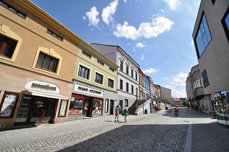 Valašské Meziříčí - ulice vedoucí na valašskomeziříčské náměstí
