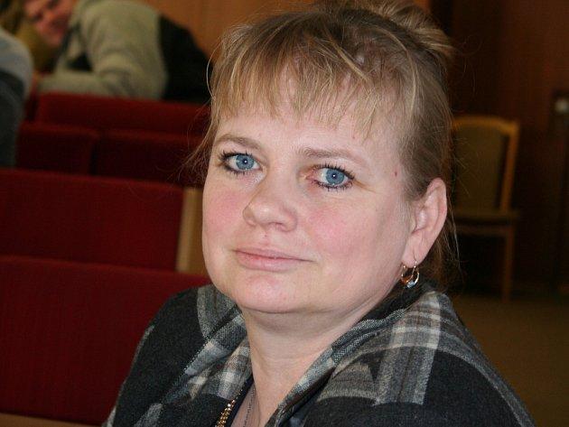 Předsedkyně Osadního výboru Semetín Denisa Mezníková.
