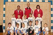 Turnaj fotbalových nadějí ve sportovní hgale Na Lapači ve Vsetíně vyhráli malí fotbalisté Valašského Meziříčí.