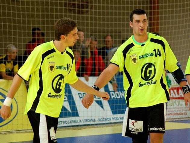 Házenkáři Zubří Miroslav Jurka a Tomáš Bechný.