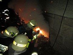 Požár kotelny v Horní Bečvě