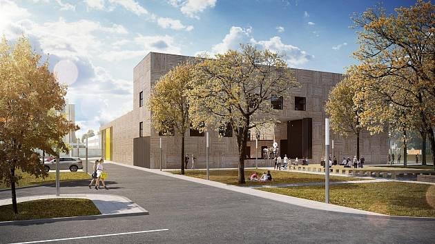 Vizualizace budoucí podoby plánovaného kulturního centra v Rožnově pod Radhoštěm