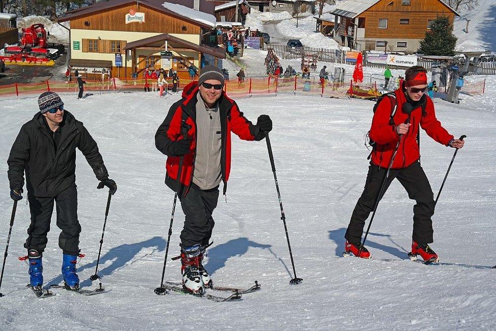 Testování skialpů Razula