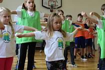 Děti ze Základní a mateřské školy Choryně vyhrály trénink s olympioniky. Vedla jej stolní tenistka Iveta Vacenovská, dorazila také například Šárka Kašpárková.