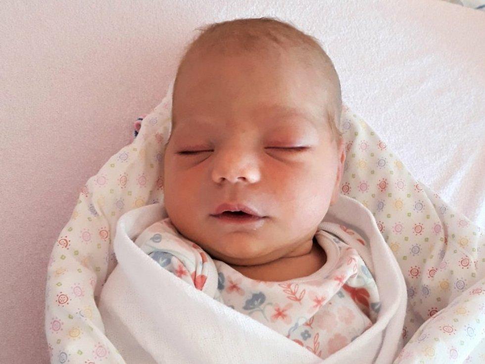 Viktorie Dudziková, Zašová, narozena 6. června 2021 ve Valašském Meziříčí, váha 3680 g