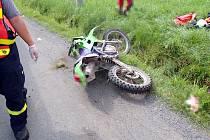 Tragická nehoda motorkáře v Halenkově