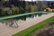 Koupací biotop v Prostřední Bečvě