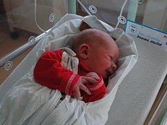 Druhým chlapečkem narozeným ve vsetínské porodnici na Štědrý den je Dominik Hruška.
