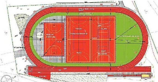 Sportoviště v Letenské ulici nabízí hřiště na míčové hry i běžecký ovál