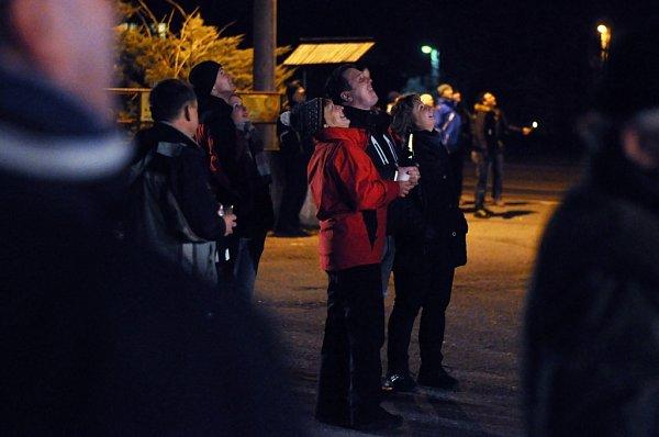 VPoličné uValašského Meziříčí oslavili úderem půlnoci 31.prosince 2012své osamostatnění na městě Valašské Meziříčí.