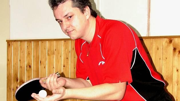 Vsetínský stolní tenista Libor Slováček