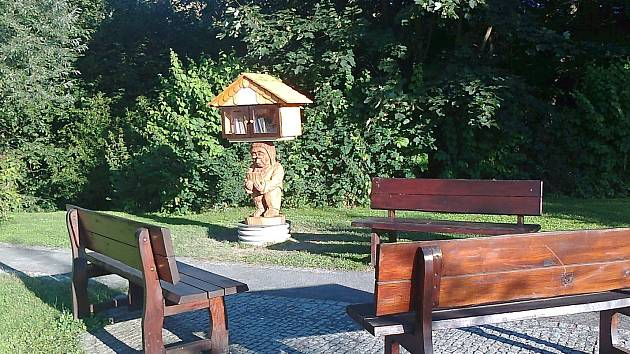 Ve Francově Lhotě otevřeli o letních prázdninách 2018 vyřezávanou knihobudku v parku za obecním úřadem. Autorem je Jan Brlica ml.