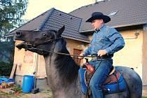 Westernový jezdec Ondřej Pavlíček z Podlesí se připravuje na mistrovství světa do čínského Luan-Pingu; září 2019