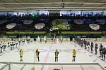 Vsetínští hokejoví fanoušci slavili v sobotu 12. října 2019 přesně na den 80. výročí založení klubu.