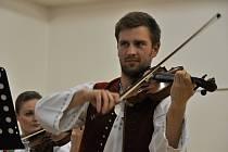 Primáš Cimbálové muziky Jadernica z Valašského Meziříčí Marek Žilinský