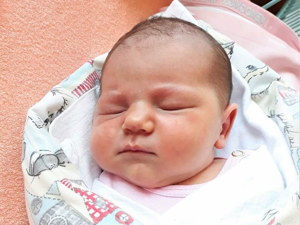 Gabriela Březinová, Zubří, narozena 7. června 2021 ve Valašském Meziříčí, váha 3640 g