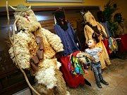 Výstava tradičních mikulášských masek Hornolidečska a Valašskokloboucka v expozici Betlému v Horní Lideči.
