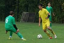 Hráči Kladerub prohrávali ještě v 90. minutě v Leskovci 1:0, nakonec si odvezli dva body. Ilustrační foto.