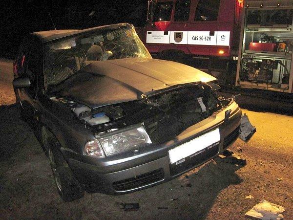 Vážná nehoda mladíka voctavii ve Valašské Bystřici