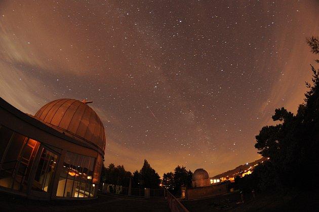 Pozorování padajících hvězd na Hvězdárně Valašské Meziříčí v sobotu 12. srpna 2017