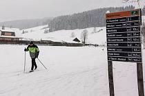 Razula má ideální podmínky pro lyžování.