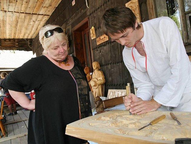 Um pětadvacetiletého Bohuslava Vašuta obdivuje malířka Jana Dočkalová