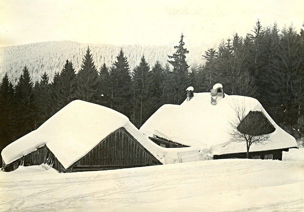 Zima v Javorníkách, 70. léta.