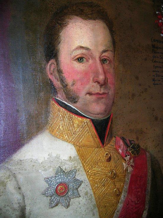Obraz císařsko-královského generála Karla hraběte Kinského z konce 19. století.