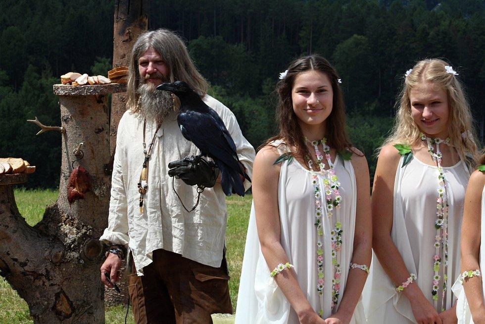 Filmaři pokračovali 3. července 2019 na kopci na Podlesím s natáčením pohádky Největší dar.