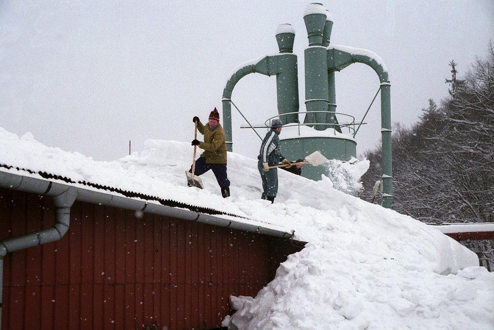 Zima v Rožnově pod Radhoštěm, únor 2006.