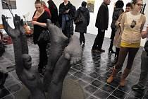 Vernisáž výstavy díla akademického sochaře Pavla Drdy z Bystřičky a fotografií Roberta Goláně ze Vsetína v Galeri Kaple ve Valašském Meziříčí
