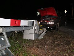 Nehoda na železničním přejezdu v Bystřičce