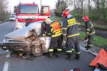 K dopravní nehodě došlo v pondělí (27. 04. 2015) kolem půl šesté ráno na silnici mezi Zubřím a Rožnovem pod Radhoštěm.