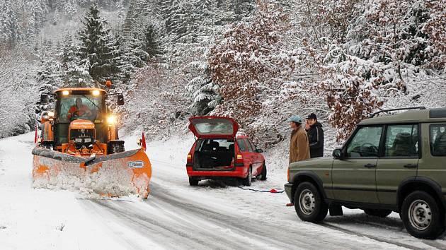Na Valašsku sněžilo
