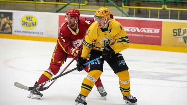 Hokejisté Vsetína (ve žlutých dresech) o první kolo letošní Chance ligy nepřijdou.