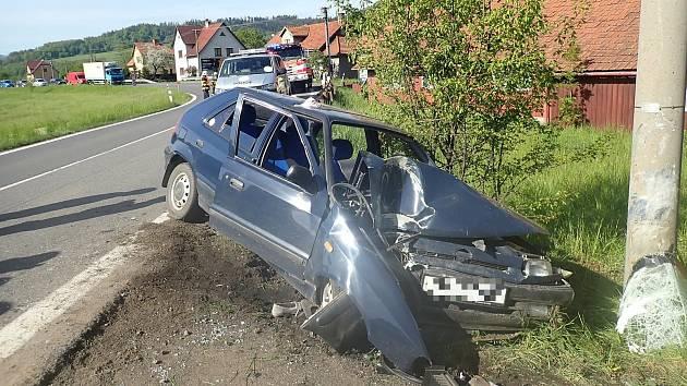Nehoda felicie v Bystřičce na Vsetínsku - 21. 5. 2021