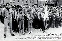 IVANČENA. Jednou z obnovených velkých skautských akcí v 90. letech byla i Ivančena mohyla nedaleko Lysé hory, pomník padlým skautům na konci 2. světové války. I skauti ze Vsetína vynesli nahoru své kameny.