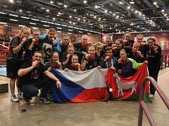Florbalové juniorky Vsetína na turnaji ve Švédsku 2017