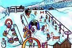 Resort Valachy. Zimní park Razulák.