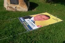Volební bilboard KDU-ČSL ve Vsetíně nemá povolení.