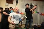 Natáčení filmu Děda v hospodě Za vodú v Jarcové.