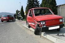 Nehoda dvou osobních aut ve Vsetíně - Bobrkách.