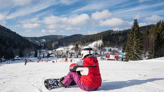 Jarní prázdniny ve Velkých Karlovicích. Ski areál Razula