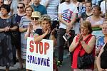 Protest proti stavbě spalovny v centru Vsetína - 13. 6. 2019