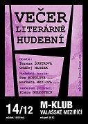 Plakát jubilejního 10. Večera Literárně-hudebního ve Valašském Meziříčí