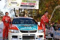 Partr Rally Vsetín vyhrála posádka Jakeš - Novák.