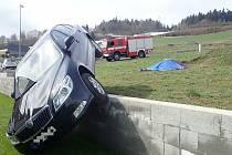 Nehoda u Valašské Polanky na Vsetínsku. 18. dubna 2021.